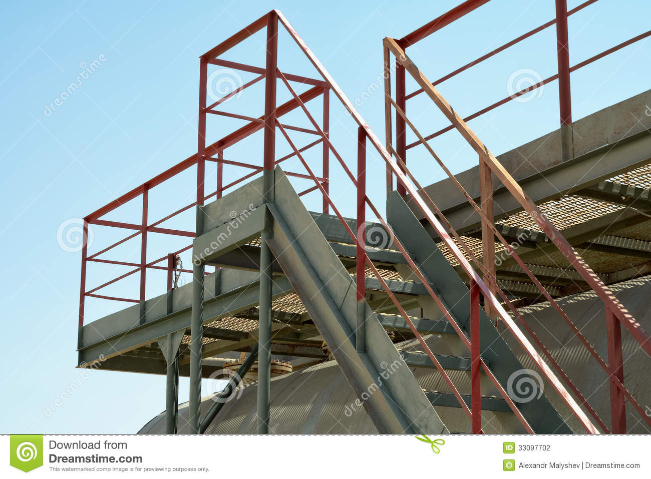 Industrial Stairs Stock Photography Image 33097702