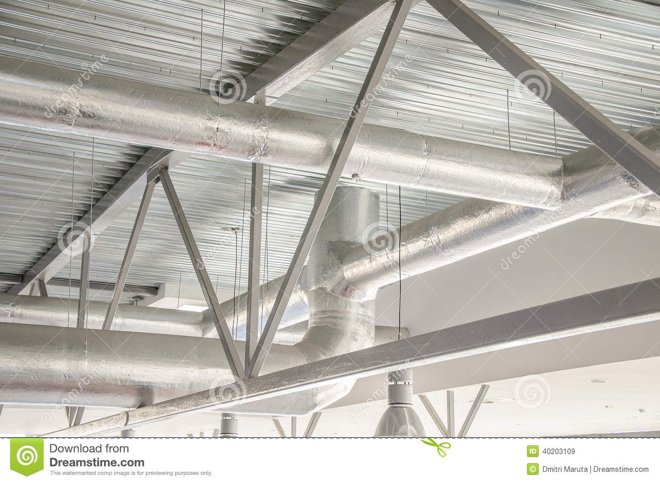 Industrial Steel Ventilation Pipes. Stock Photo Image: 40203109 #83A328