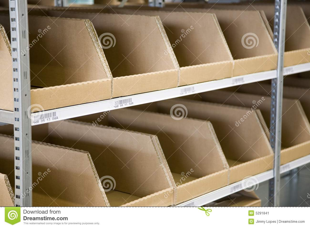 Industrial Storage Bins Stock Image Image 5291841