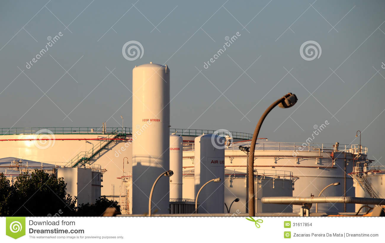 Industrial Tanks Stock Photo Image Of Container Large