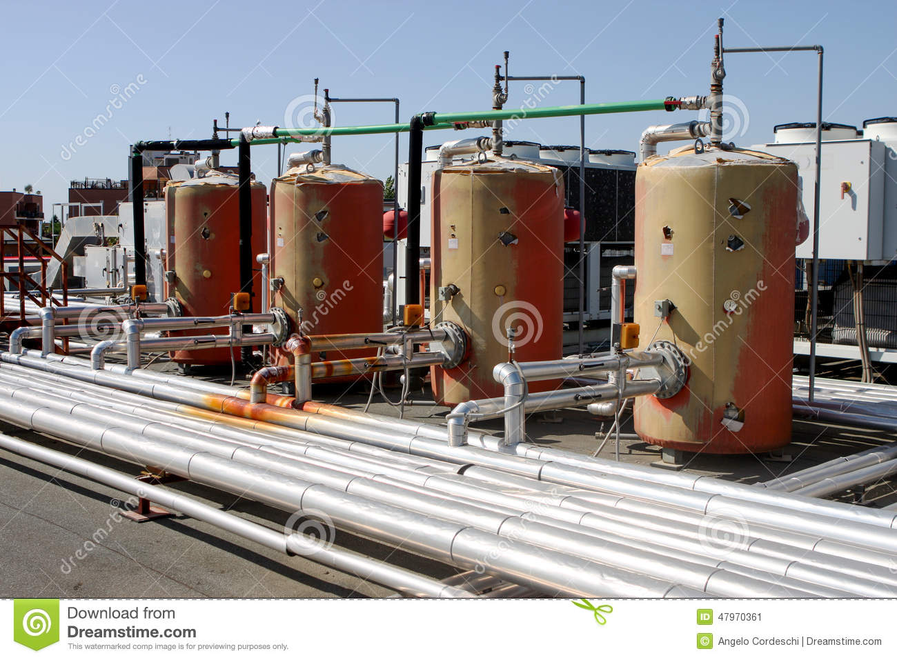 Industrial Thermal Plant Heating System Boiler Stock Image - Image ...