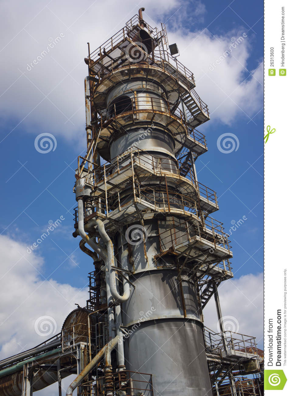 Industrial Tower Stock Photo Image Of Stairs Industry