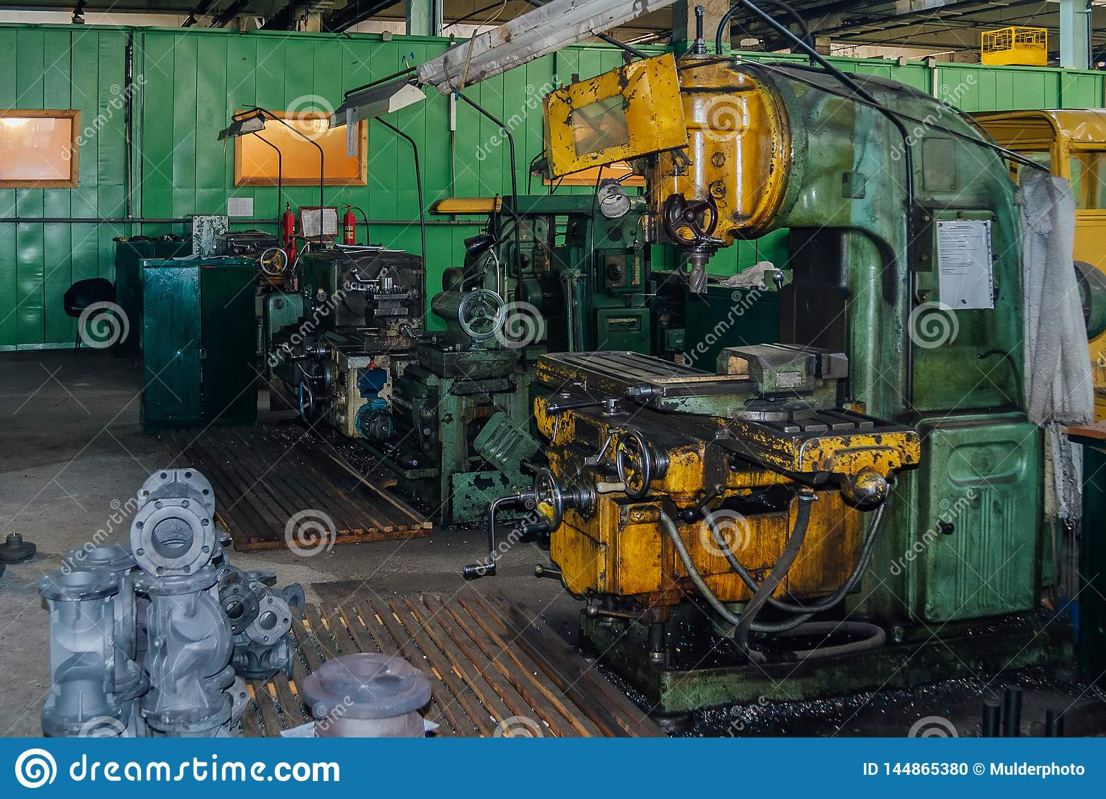 Industrial Turning And Drilling Machine Tools In Factory