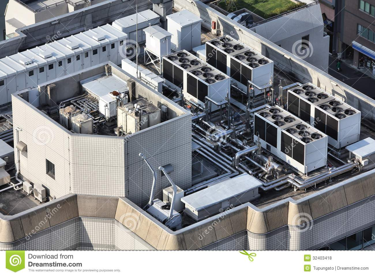 Industrial Building Ventiltors : Industrial ventilation stock photo image of rooftop