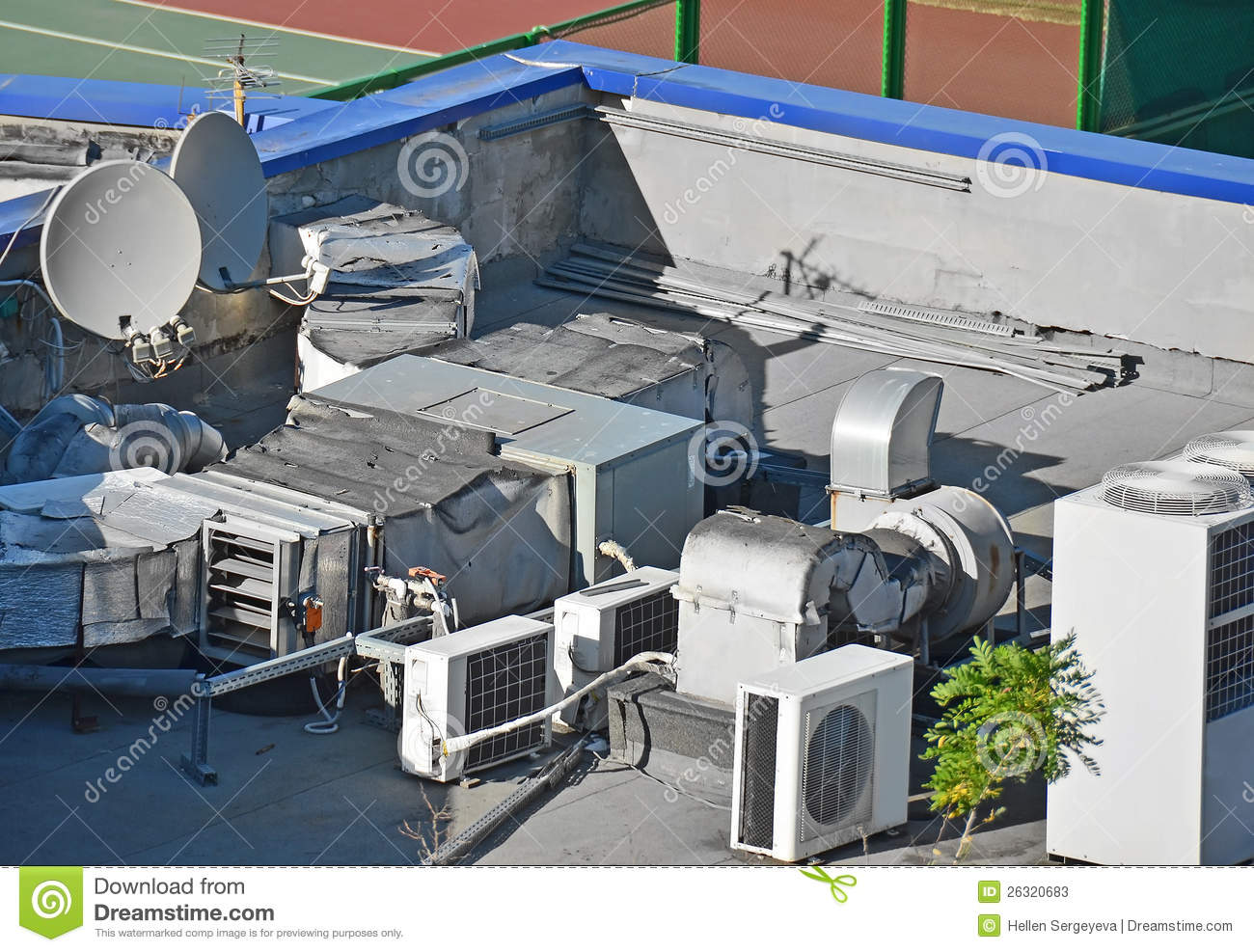Commercial Ventilation Systems : Industrial ventilation system stock photos image