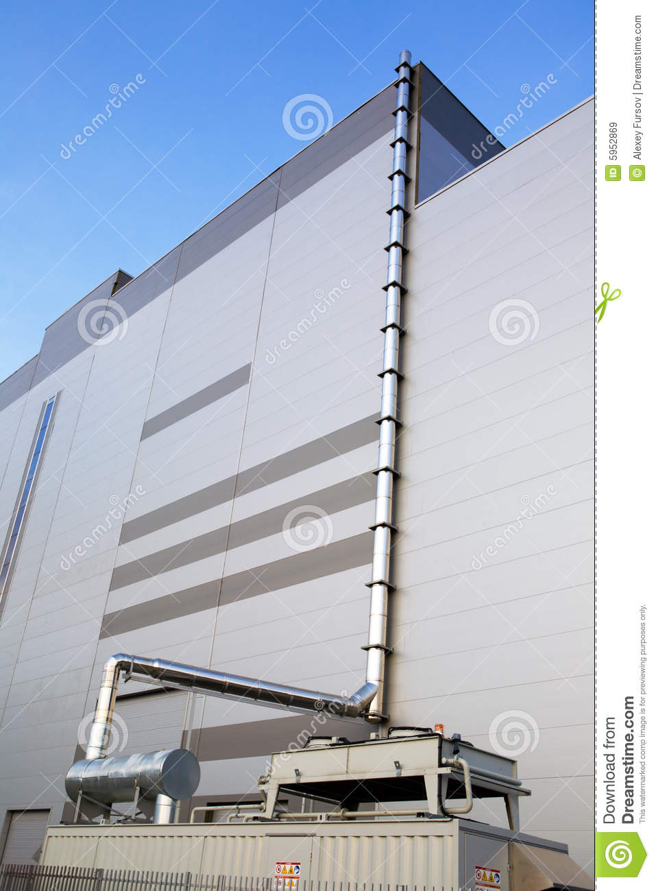 Industrial Ventilation Building : Industrial ventilation system royalty free stock images