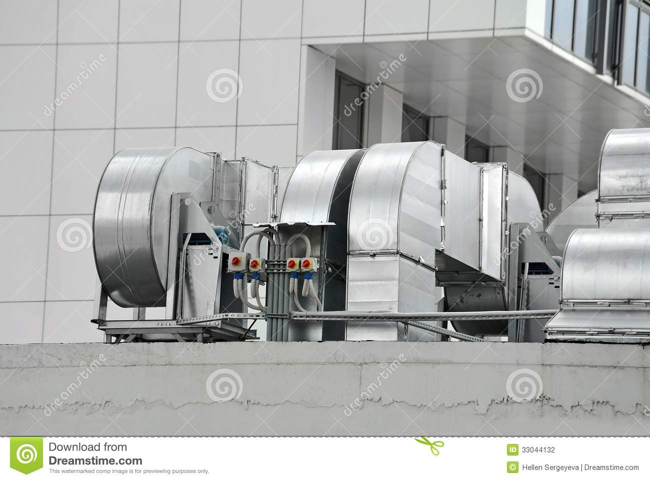 Industrial Ventilation System Stock Photo Image 33044132
