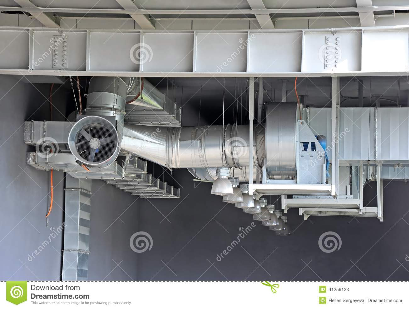 Air Ventilation System : Industrial ventilation system stock image of