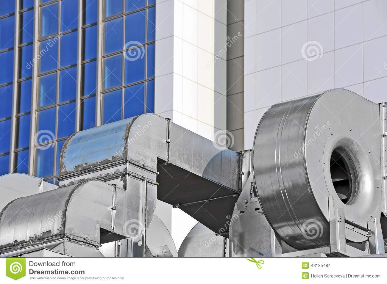 Industrial Air Systems : Industrial ventilation system stock photo image