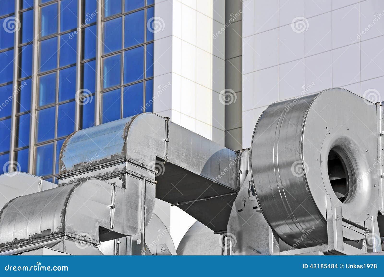 Industrial Air Ventilator : Industrial ventilation system stock photo image