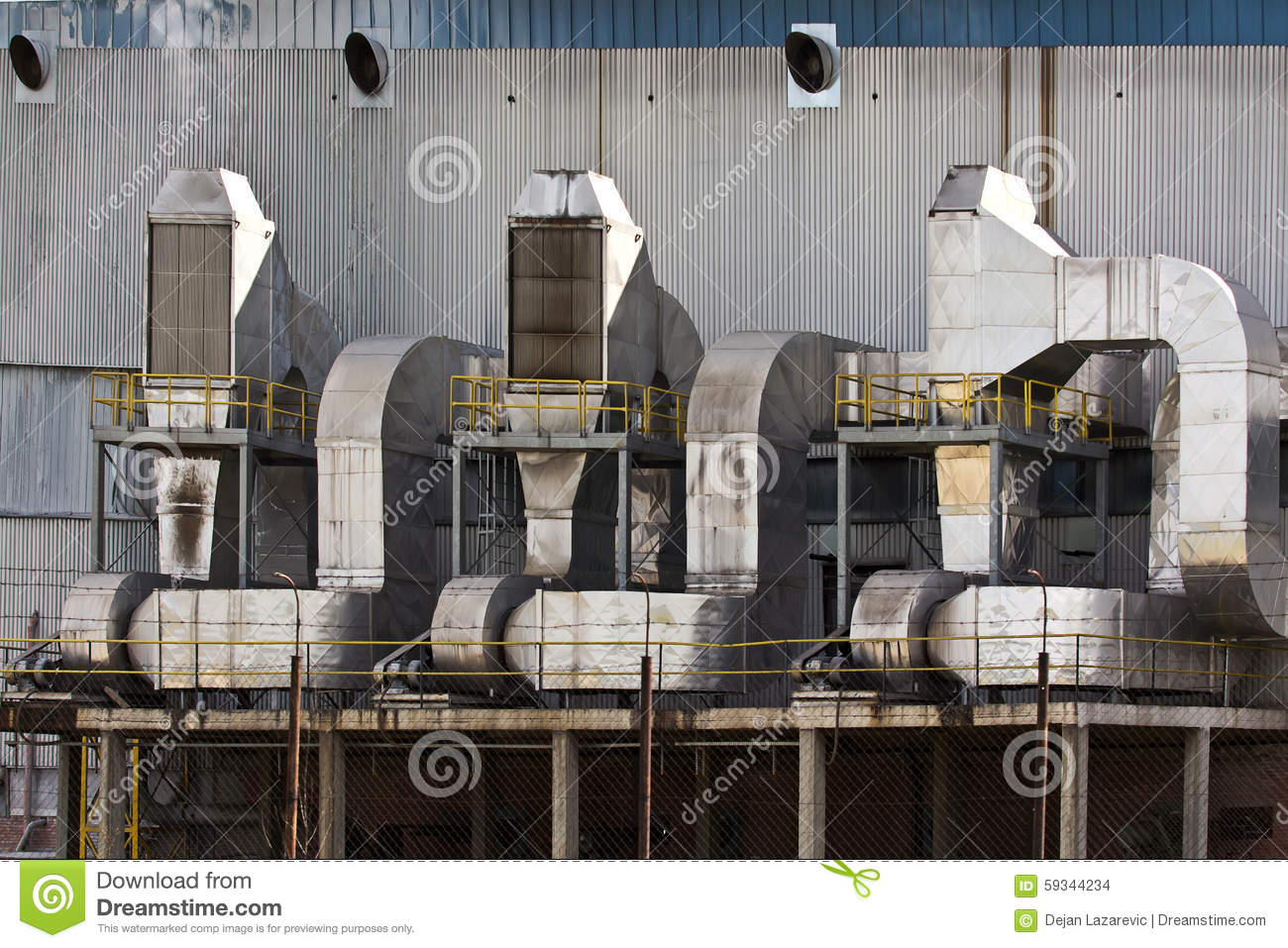 Industrial Ventilation System Stock Photo Image: 59344234 #354C62