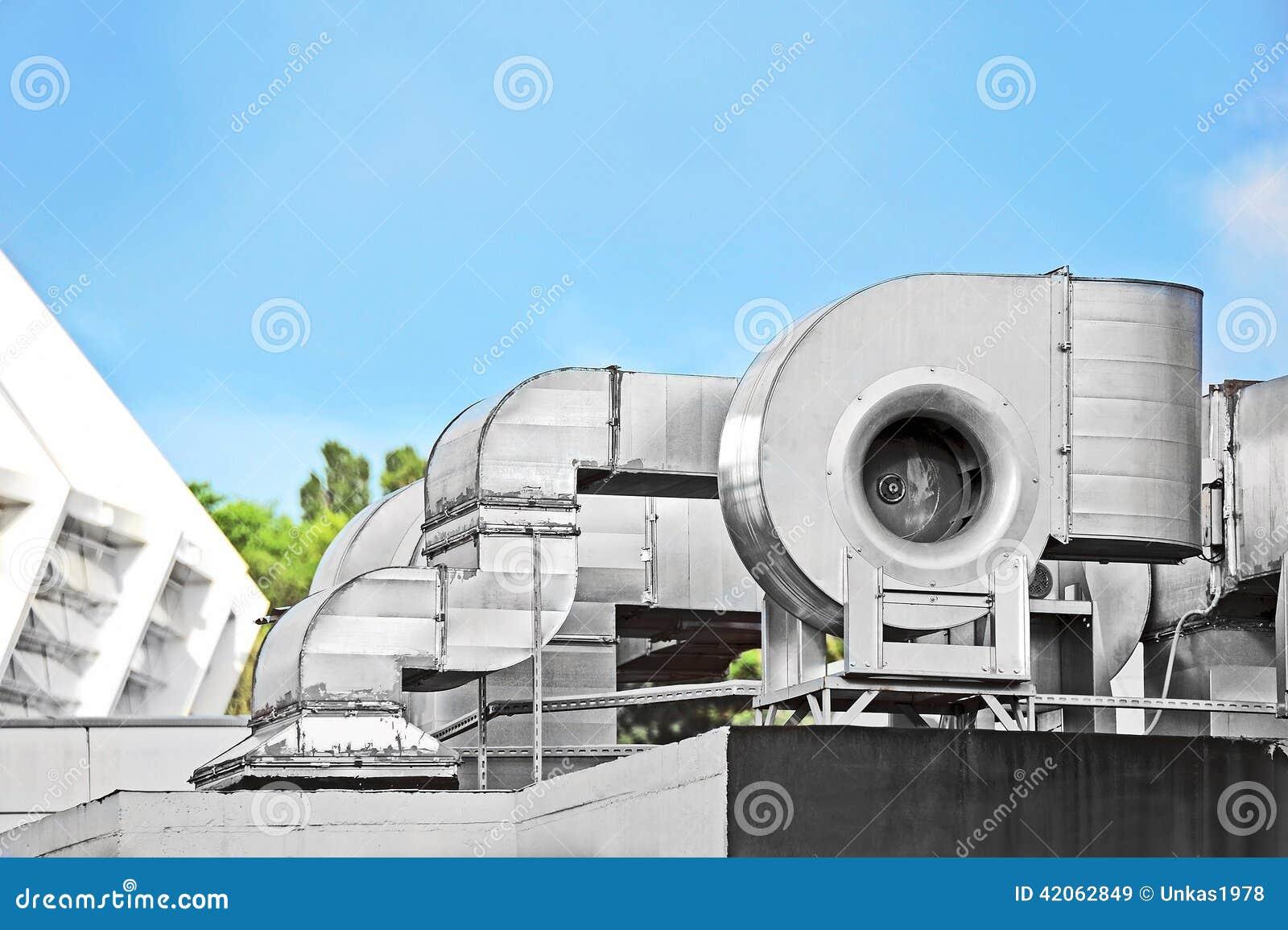 Industrial Air Ventilator : Industrial ventilation system stock image of