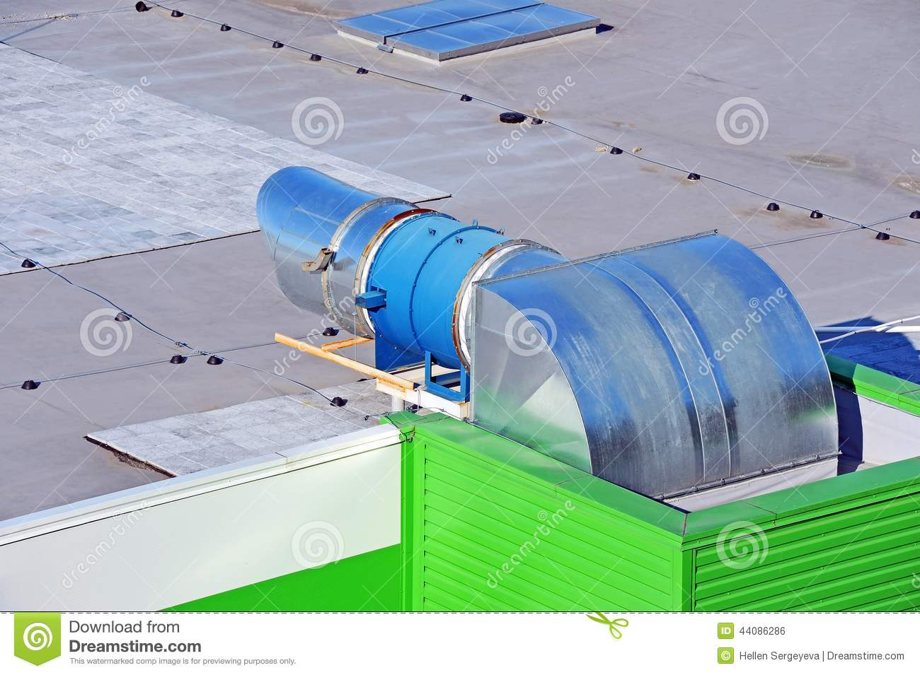 Industrial Ventilation System Stock Photo Image: 44086286 #3AAD1E