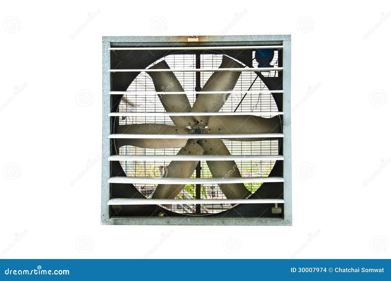 Industrial ventilator fan on white background. #83A229