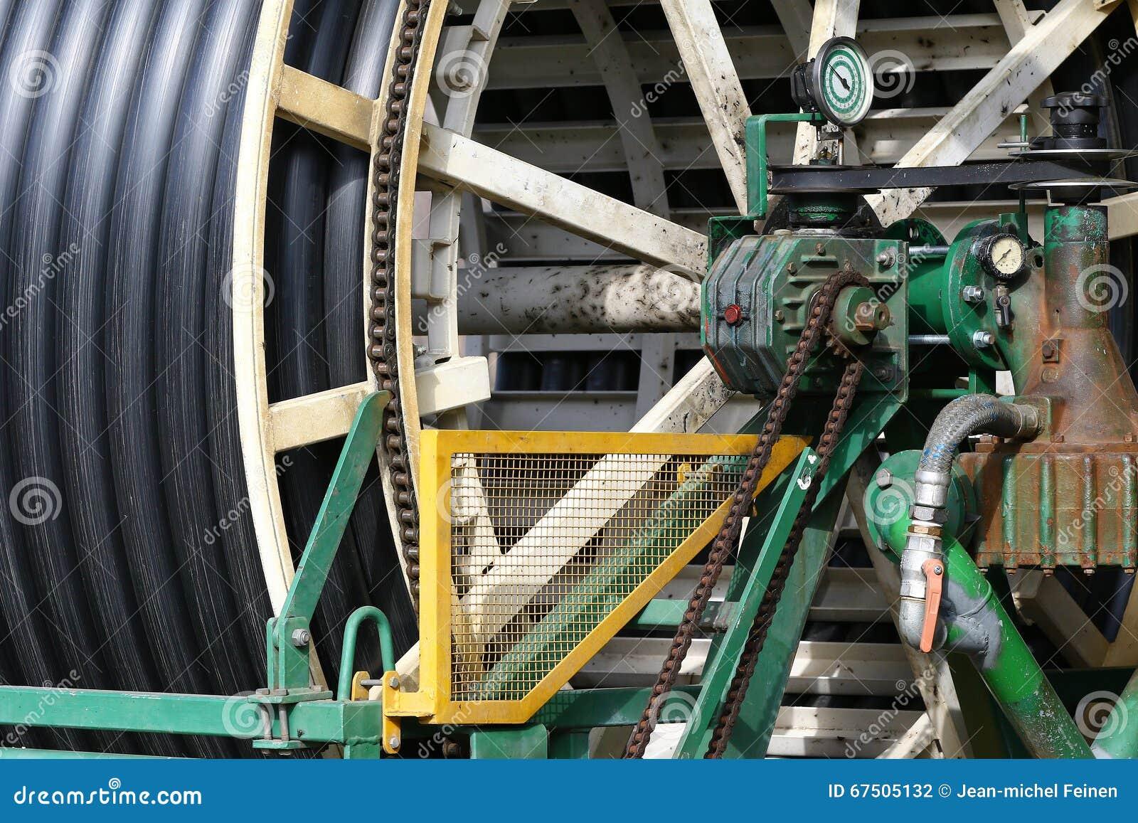 Industrial Water Hose Reel Stock Photo Image Of Hose