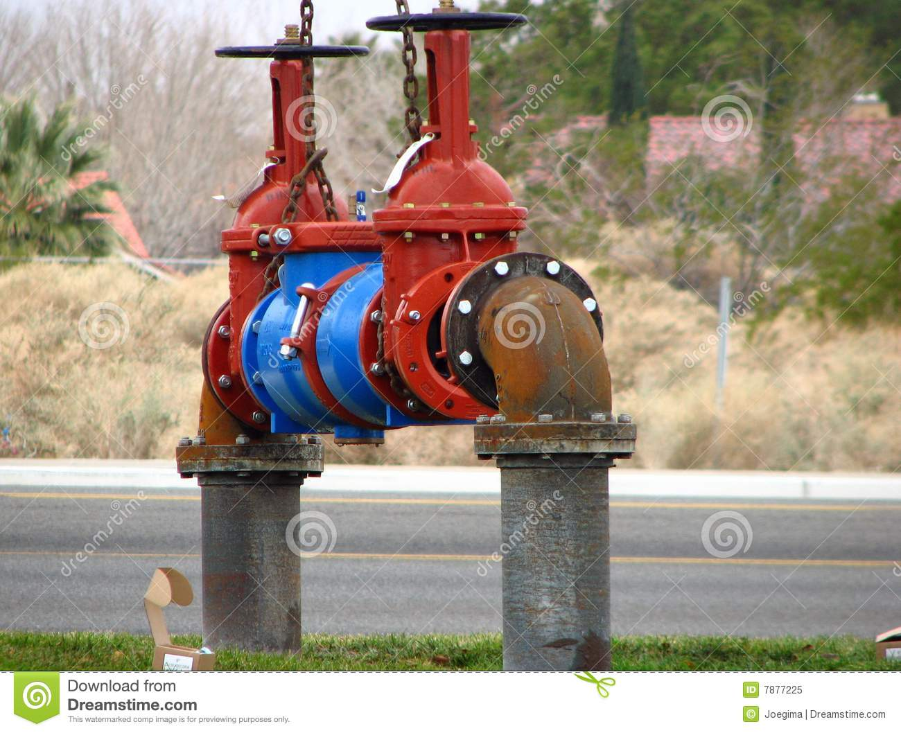 Industrial Water Main Valve Stock Image Image 7877225