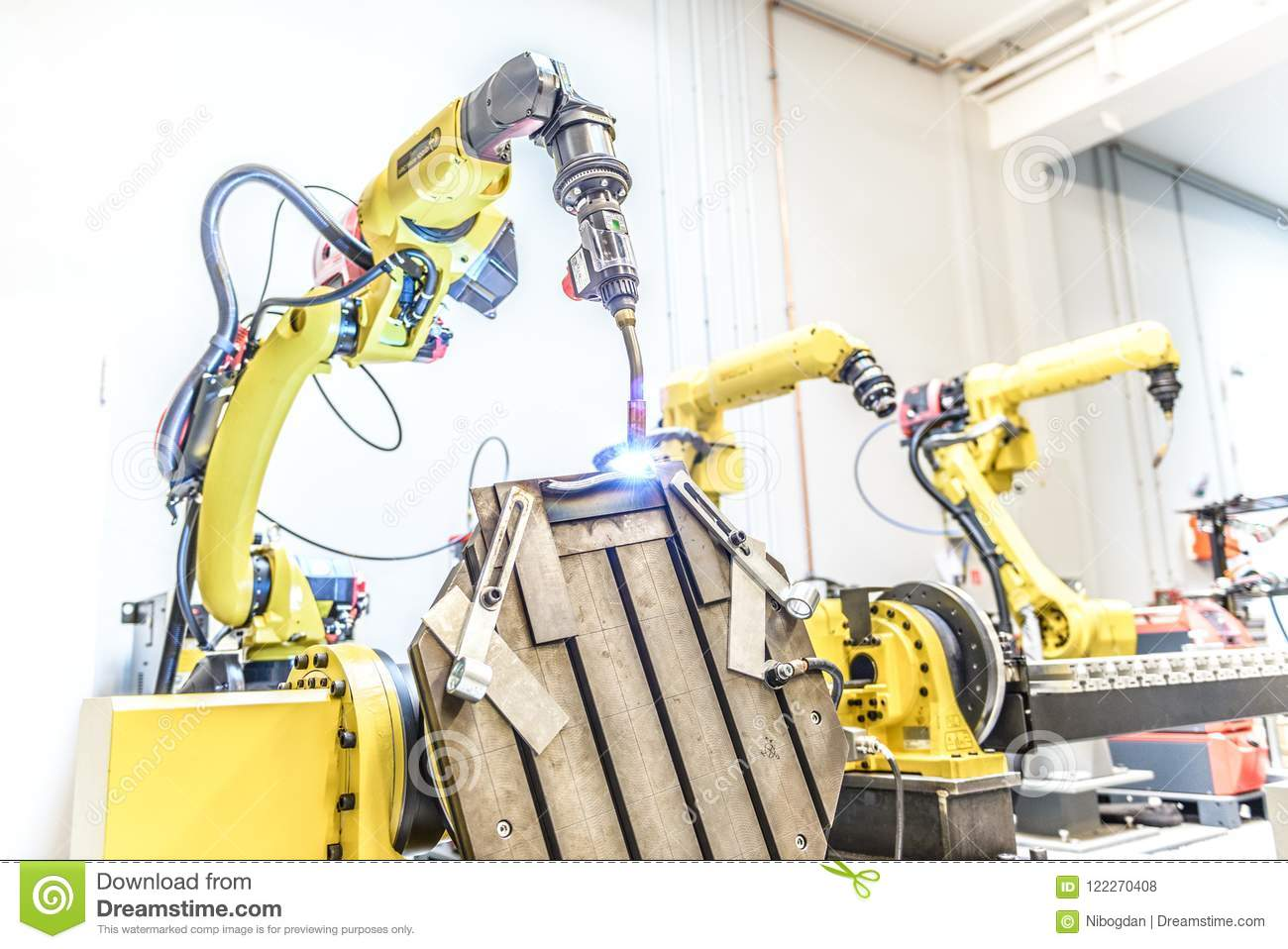 Industrial Welding Robot From Fanuc Editorial Stock Photo