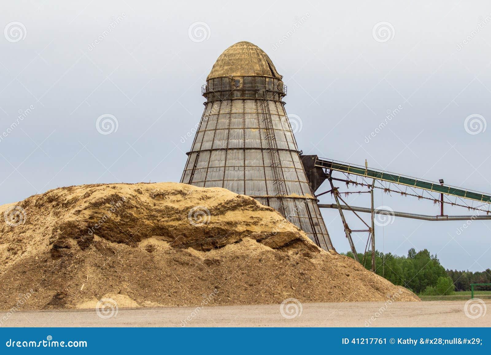 Industrial Wood Chip Burner Stock Photo Image 41217761