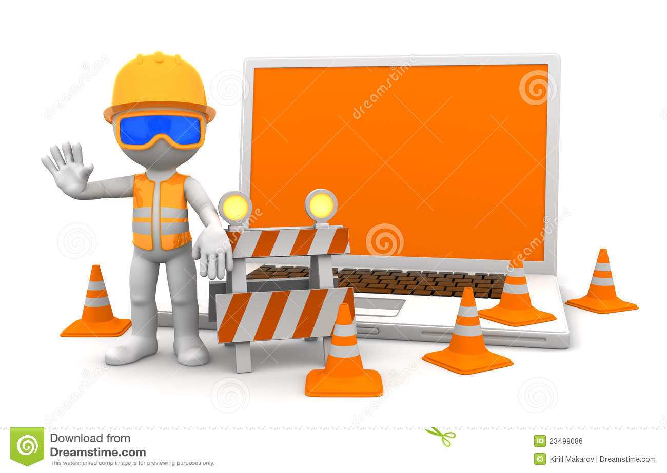 Industrial worker with laptop