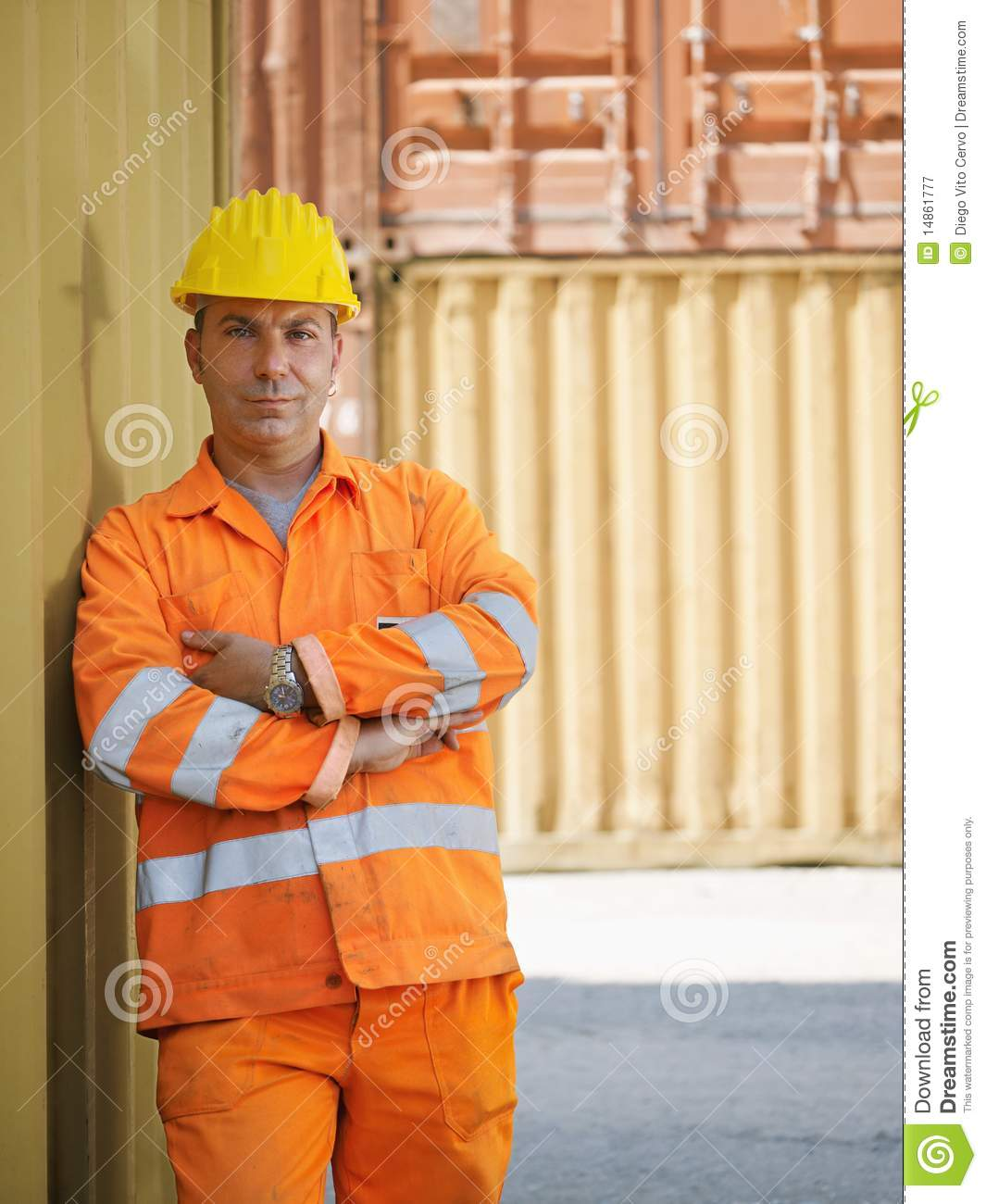 Industrial worker in warehouse