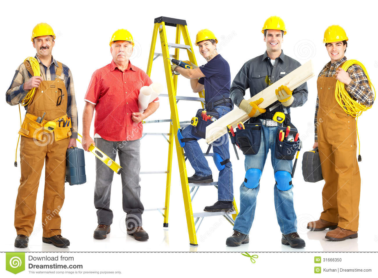 Industrial workers group stock photo image of builder for Builder contractors