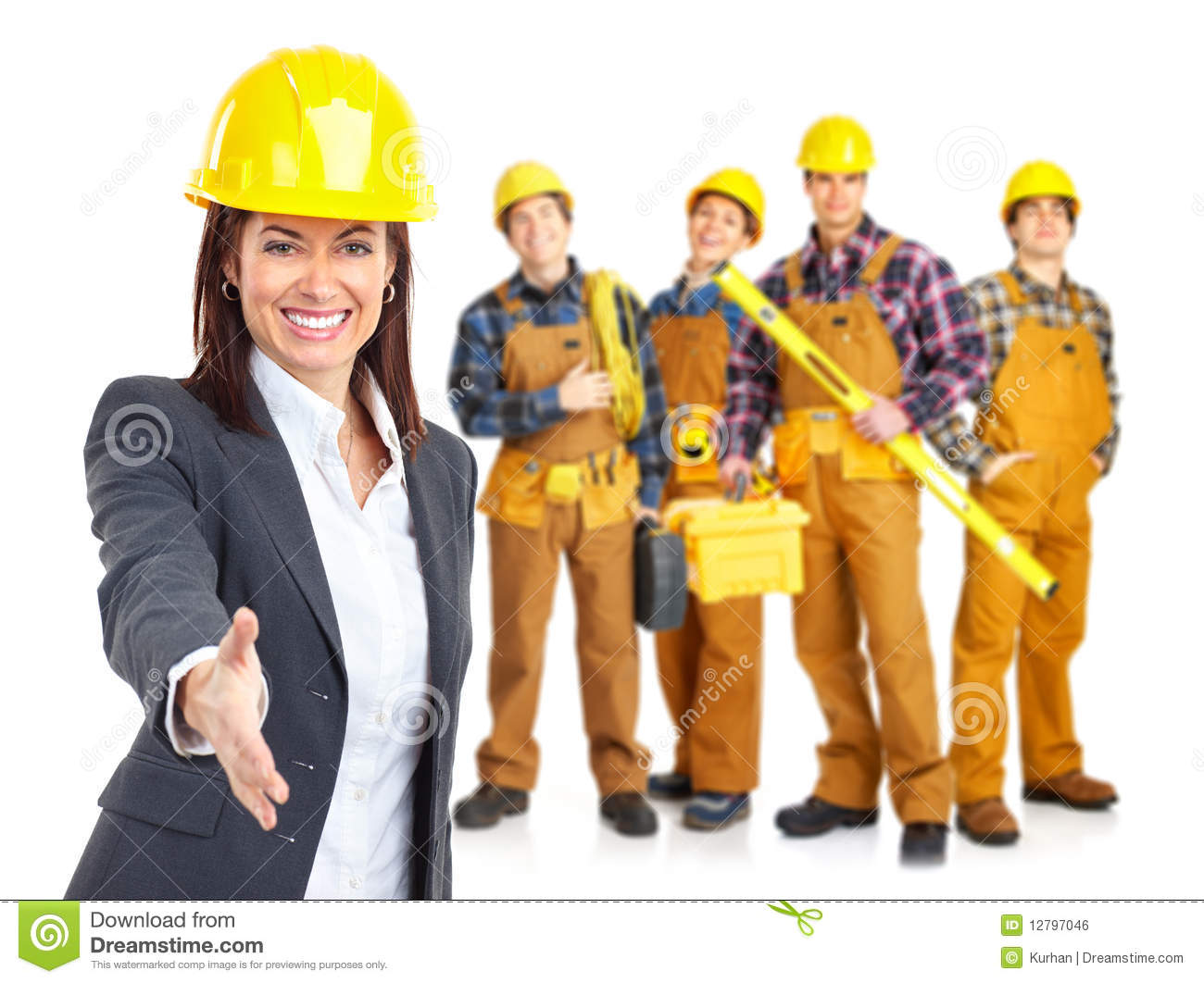 Industrial workers people