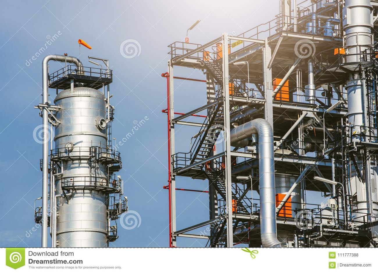 Industrial zone,oil refinery,oil pipeline