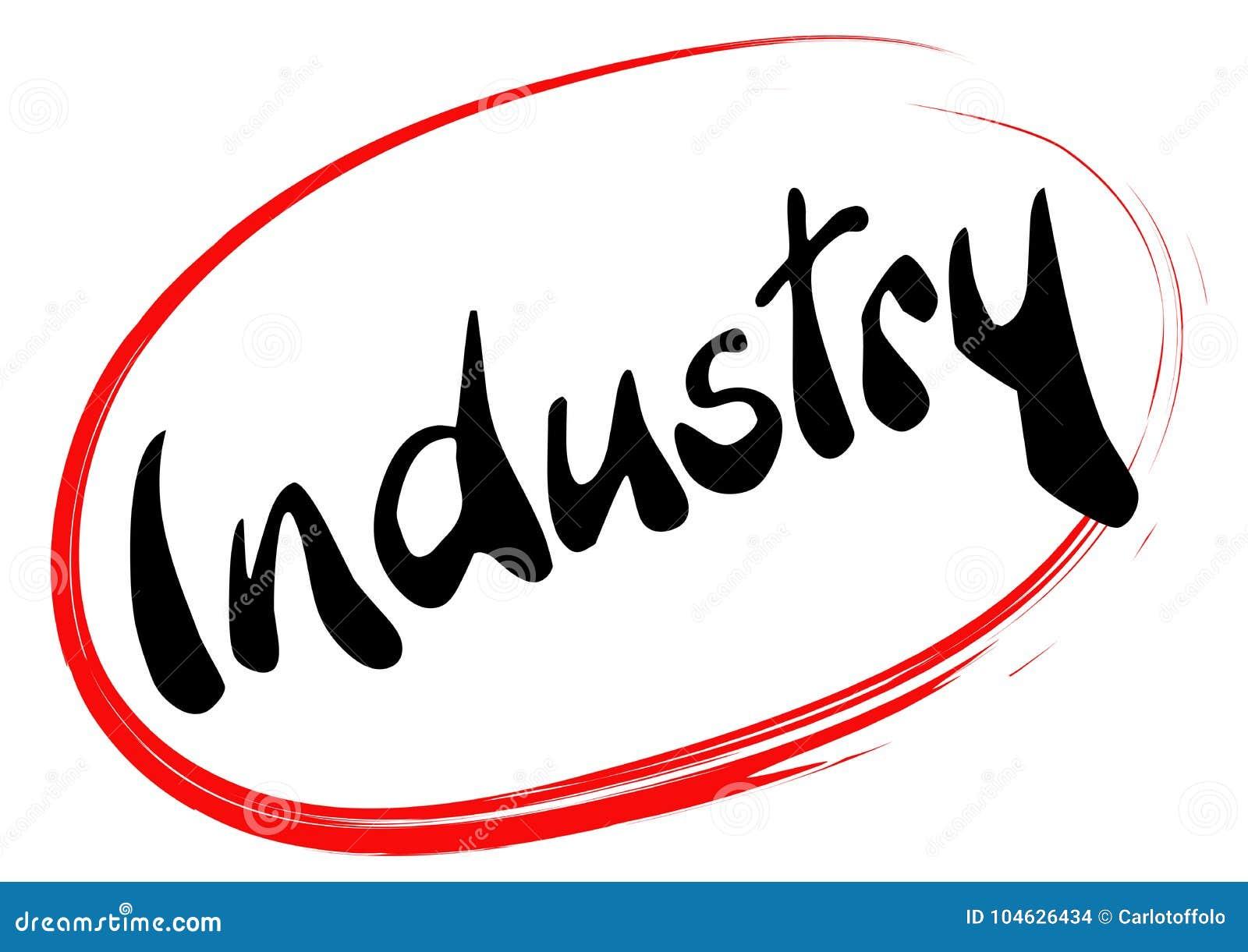 Download Industrie In Rode Hand Gevonden Cirkel Vector Illustratie - Illustratie bestaande uit symbool, proces: 104626434