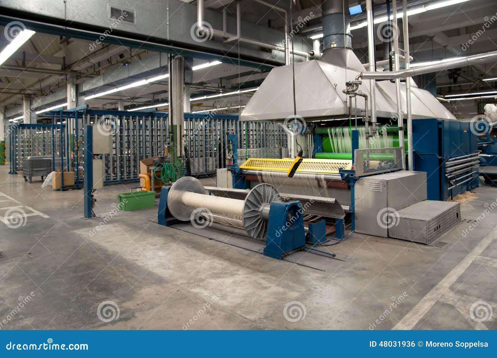 Industrie textile - tissant et se faussant