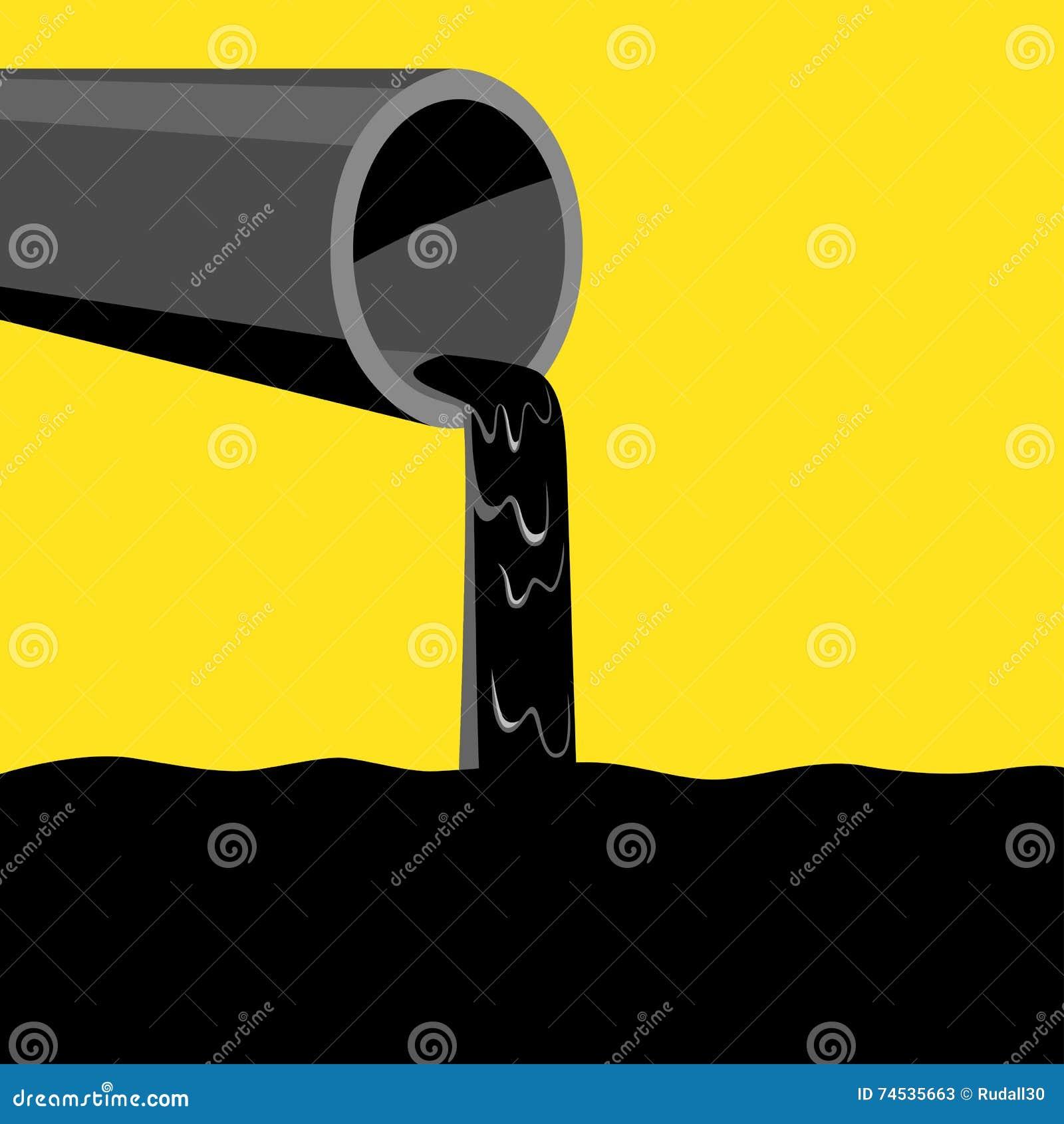 Industrieabfälle Und Wasserverschmutzung Vektor Abbildung ...