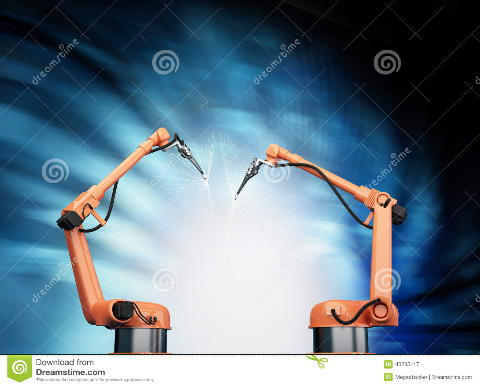 Download Industriella Robotic armar stock illustrationer. Illustration av industriellt - 43205117