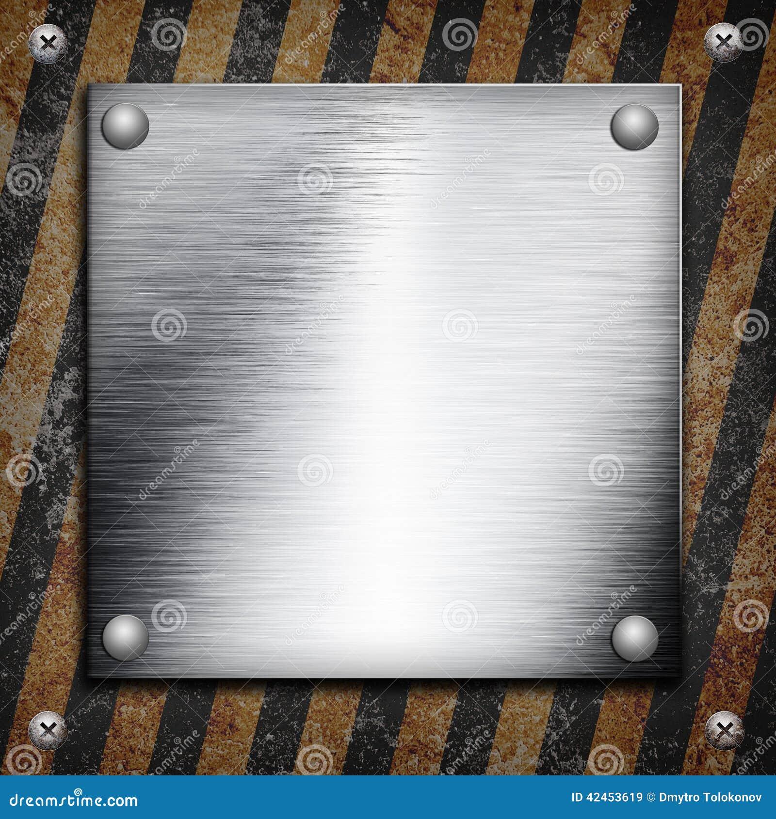 Industrielle grungy Stahlplatte