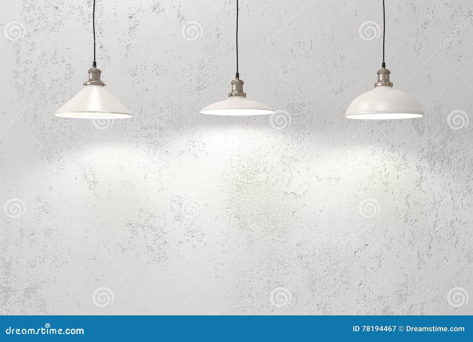 Industrielle Hängende Lampen Stockbild - Bild von szene, raum: 78194467