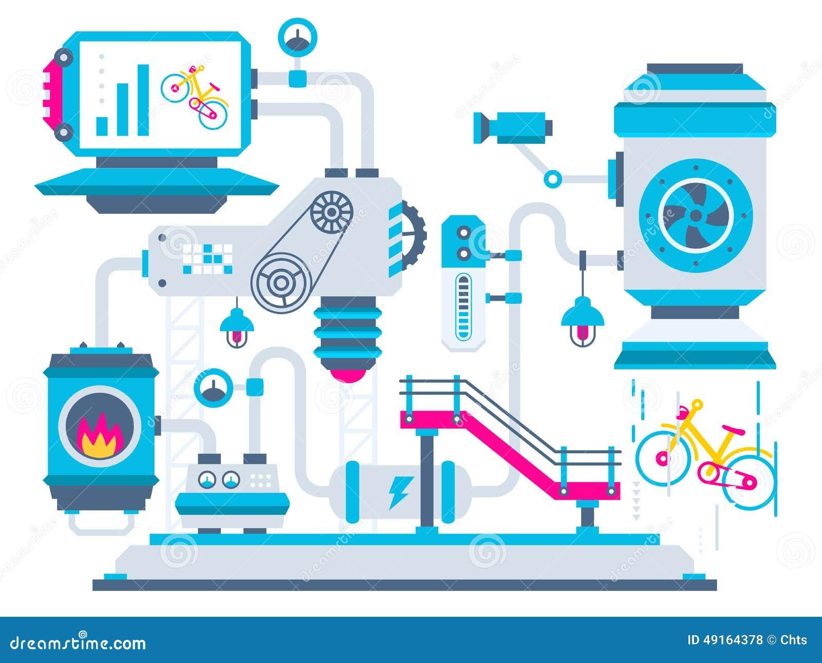 Industrieller Illustrationshintergrund der Fabrik für Pro