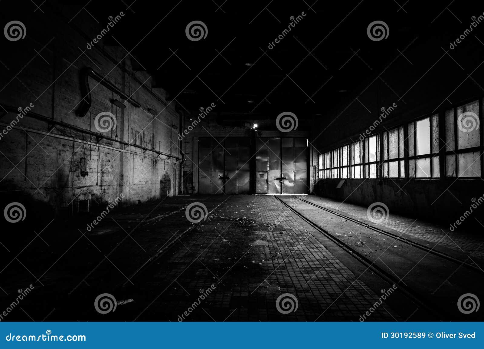 Industrieller Innenraum einer Fabrik