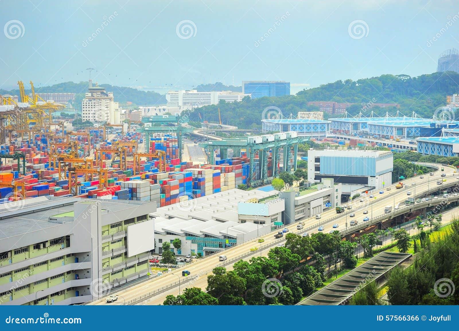 Industrieller Vorort Singapurs