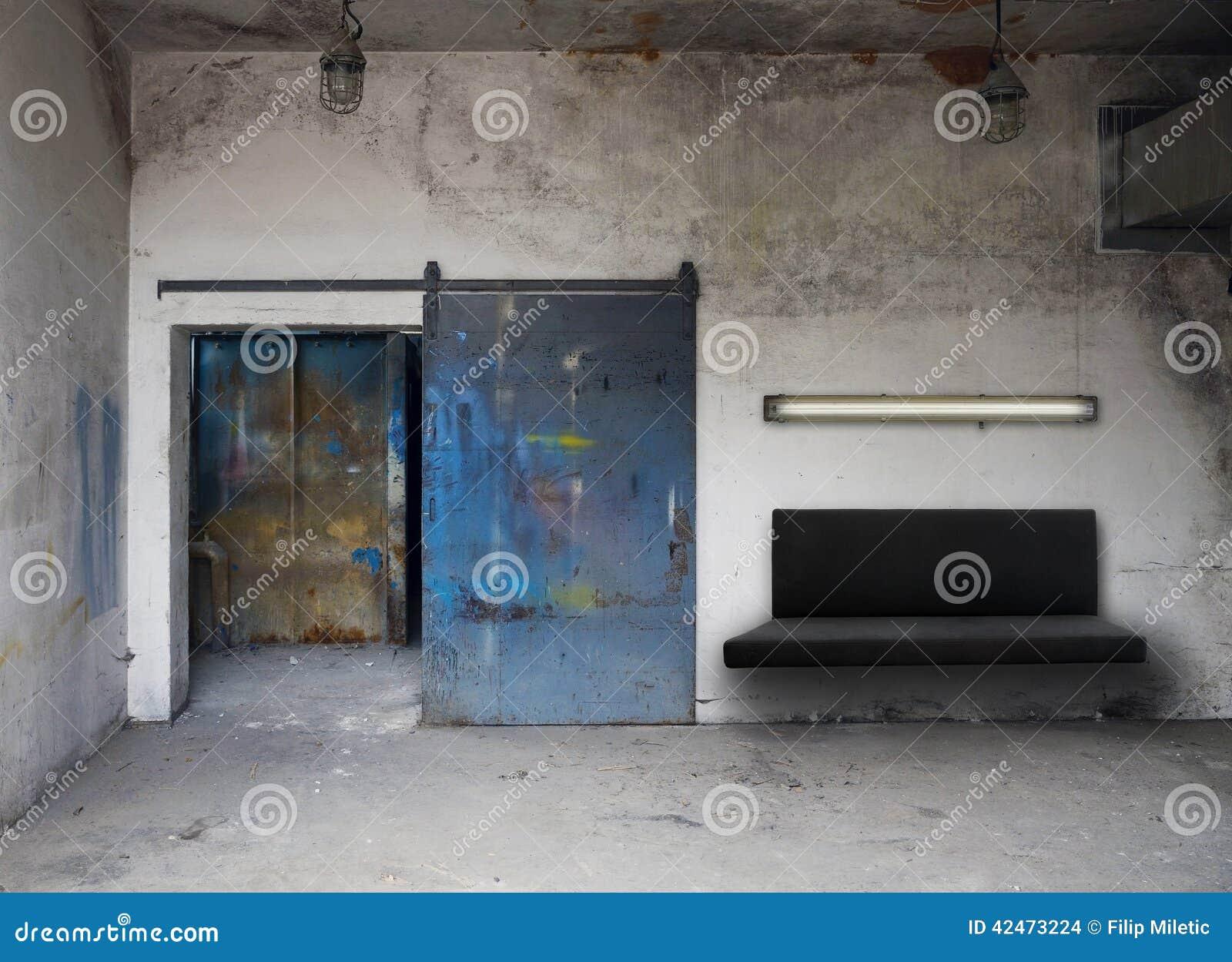 Industrielles Wohnzimmerdetail