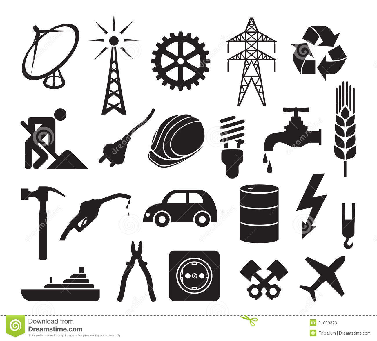 Plug Power Stock Quote: Industry Icons Collection Stock Photos