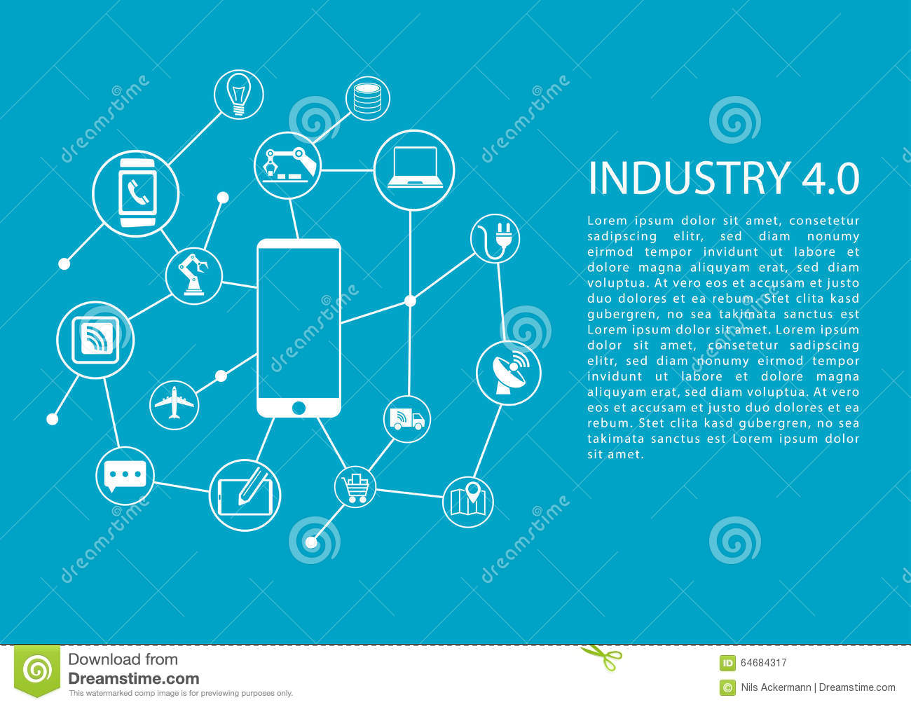 Industry 4.0 / Industrial Internet Of Things Concept With ...