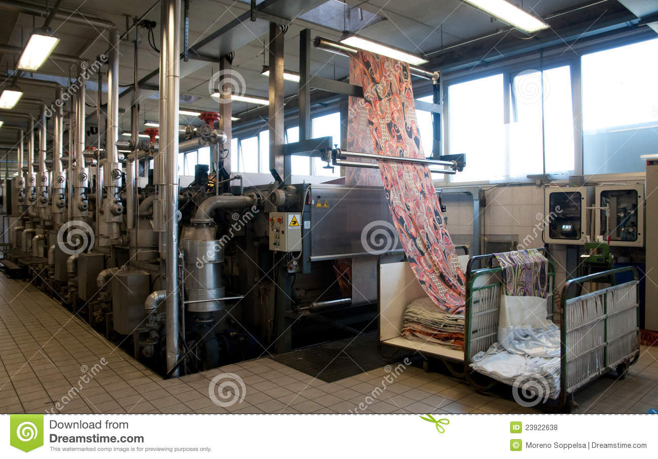 Industry: Plant For Textile Printing Stock Photo - Image ...