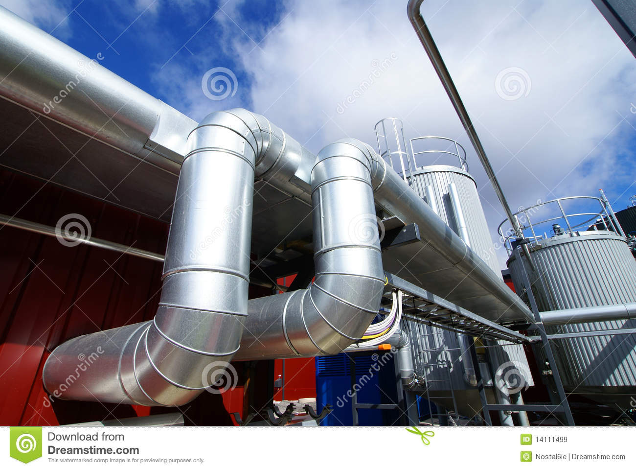 Industry Steel pipelines and tanks