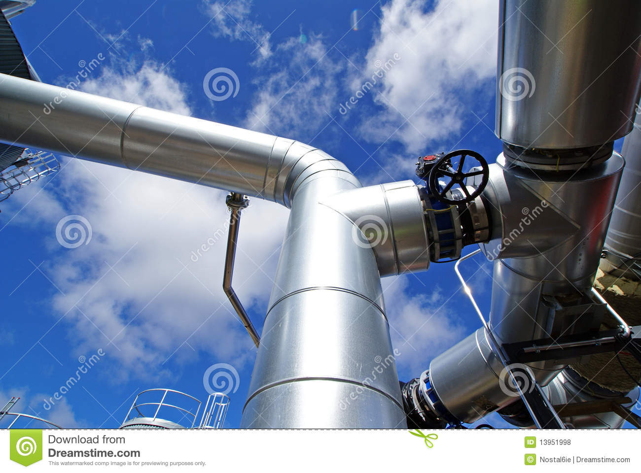 Industry Steel pipelines and valve