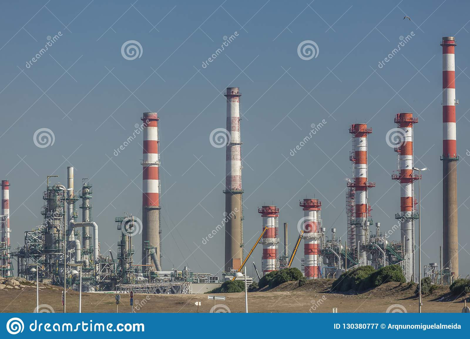 Industrial complex of oil refinery, Portugal