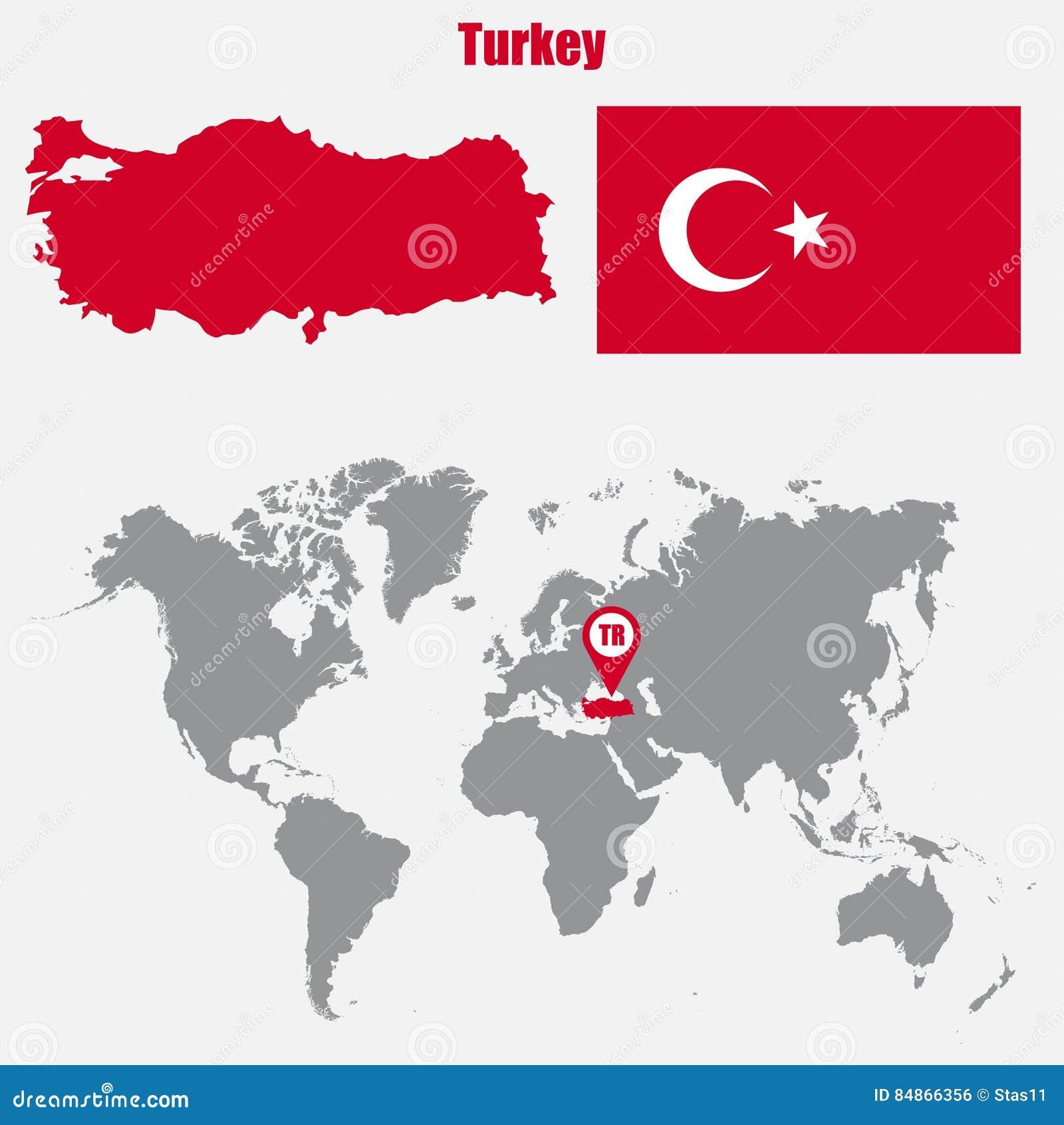 Indycza mapa na światowej mapie z flaga i mapy pointerem również zwrócić corel ilustracji wektora
