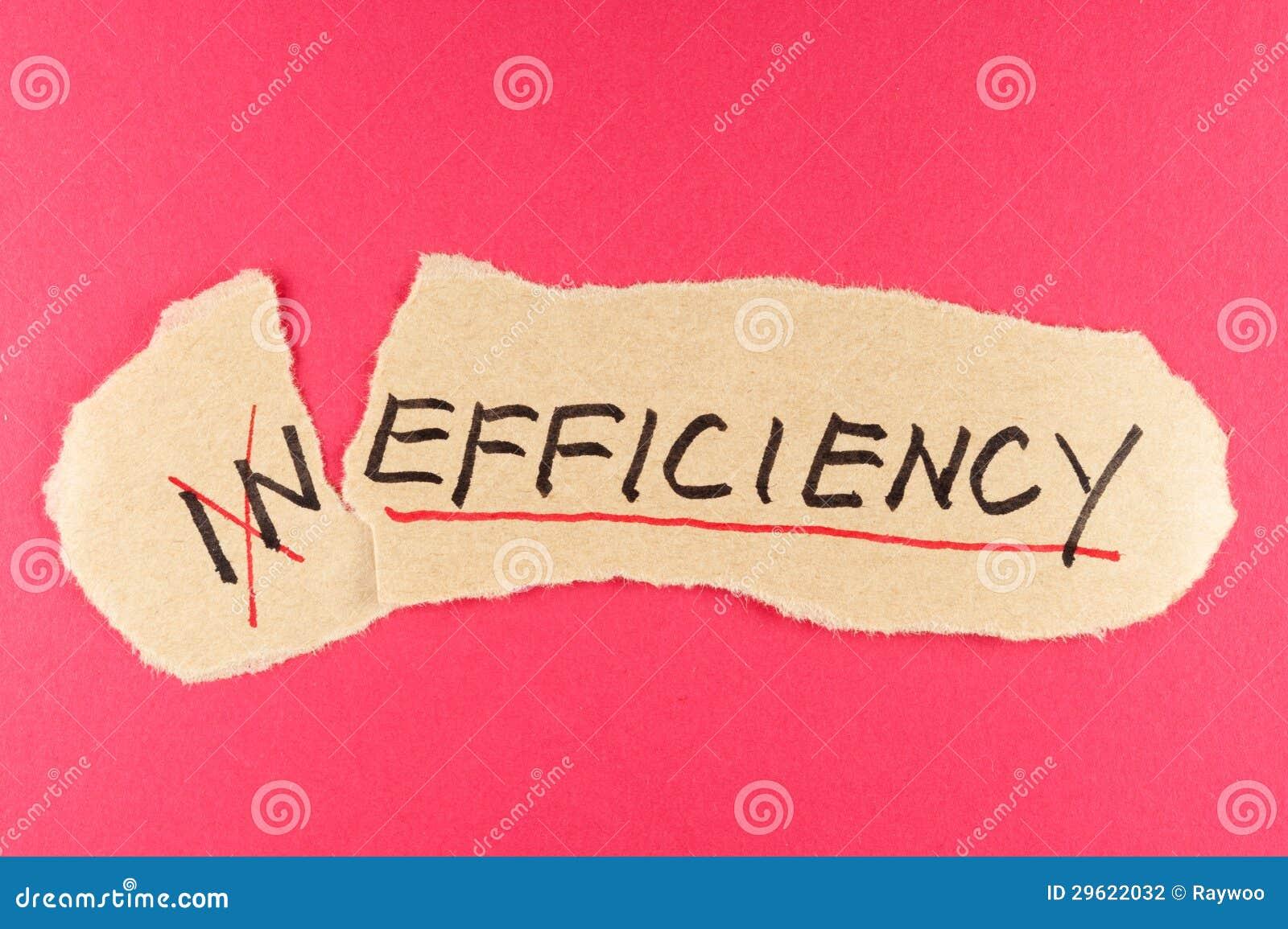 Inefficiency till effektivitet
