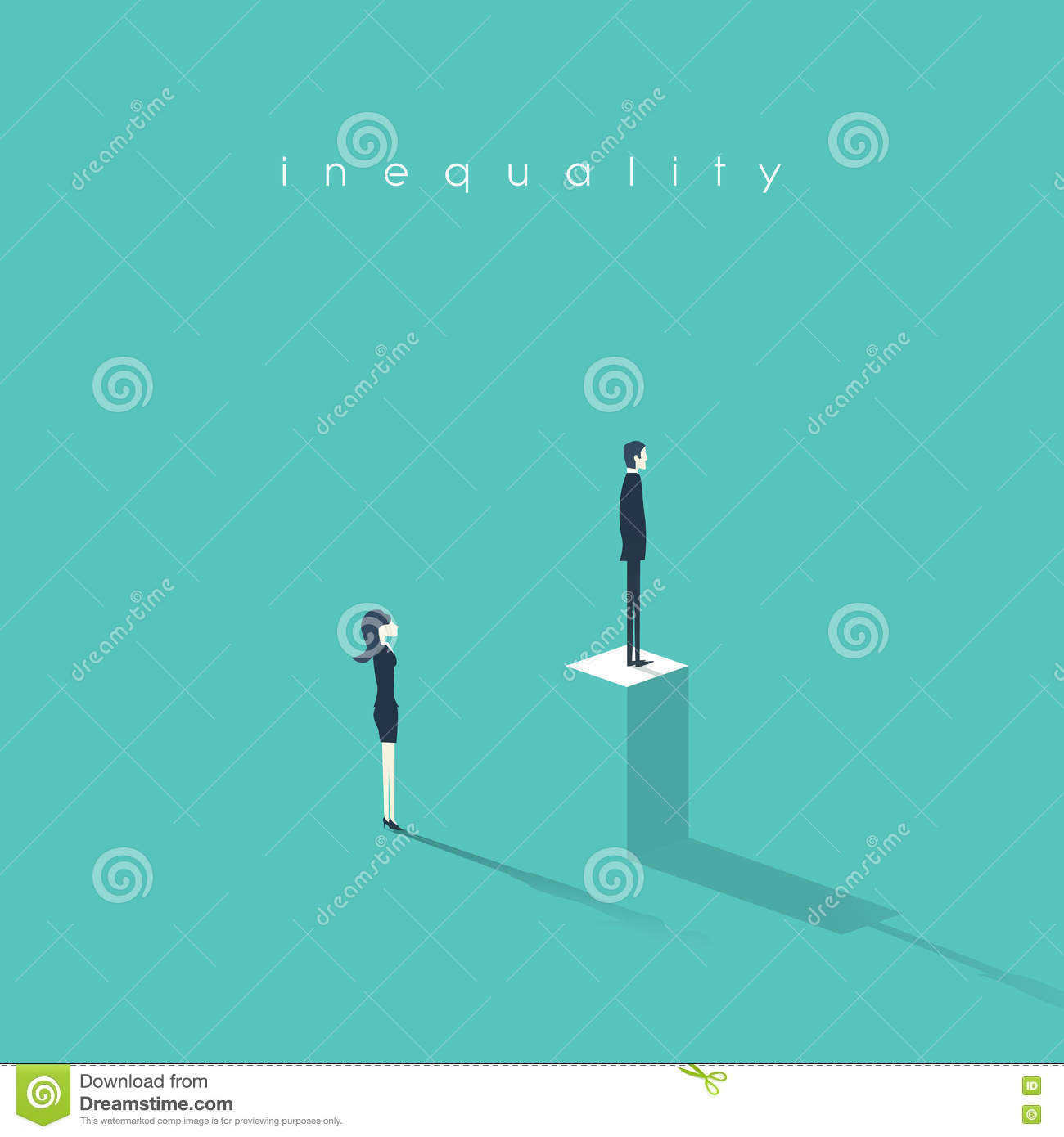 inequality concept vector illustration man versus w in inequality concept vector illustration man versus w in business difference and discrimination in professional work