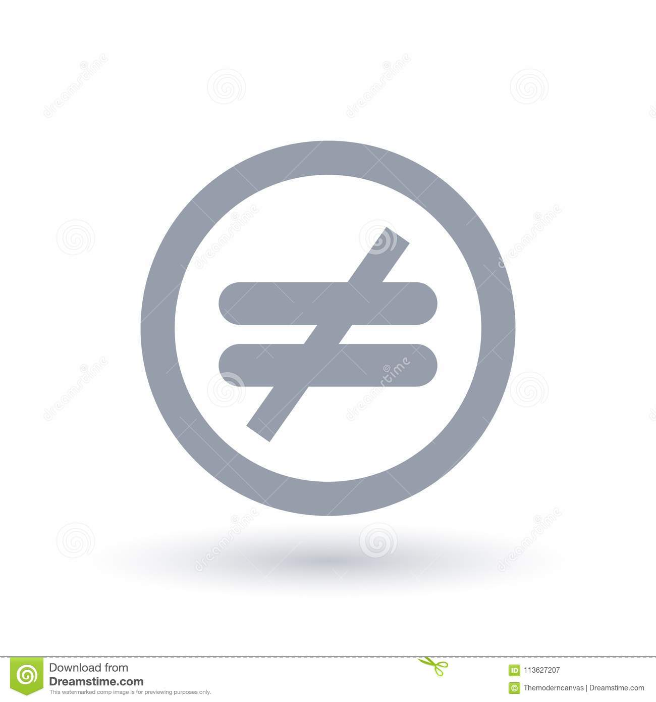 Inequality Icon Injustice Symbol Stock Vector Illustration Of