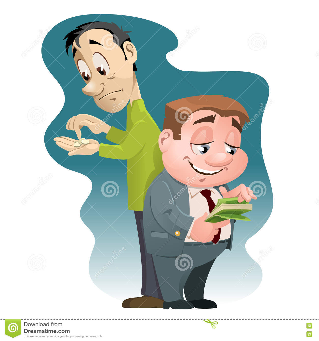 Inequality in wealth rich man and poor man stock vector image royalty free vector download inequality in wealth rich man and poor sciox Images