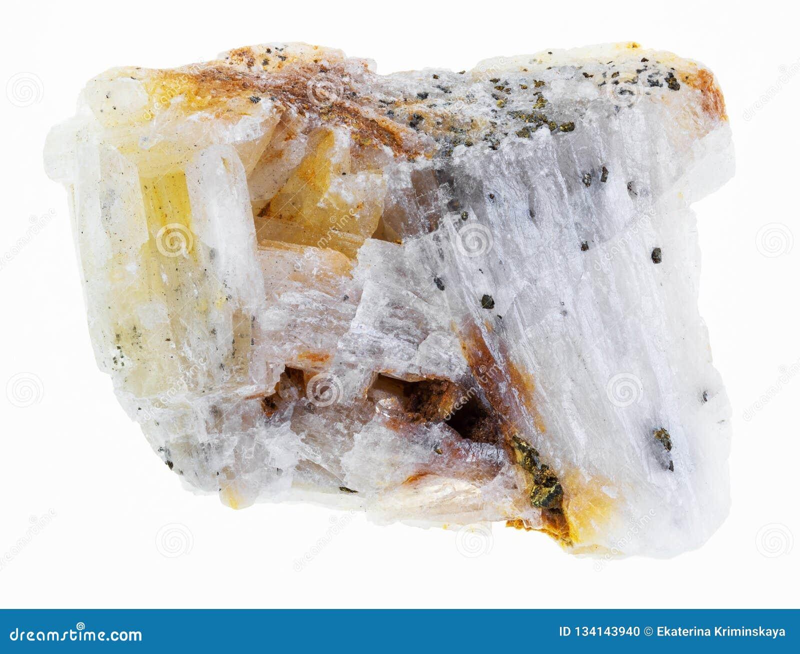 Infödd guld i grov kvartssten på vit