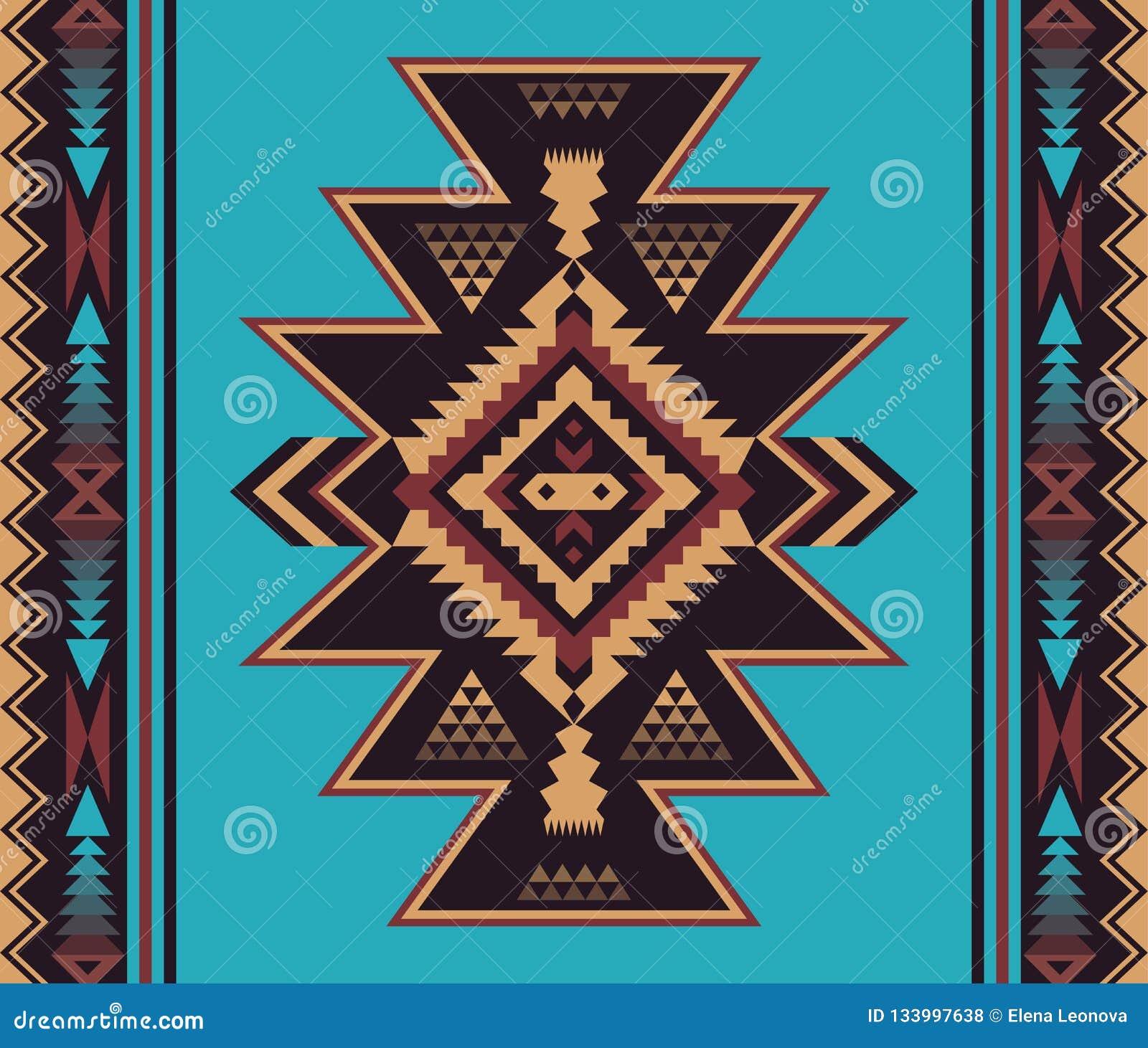 Infödd sydvästlig amerikan, indier, Aztec, sömlöst smattrande för Navajo